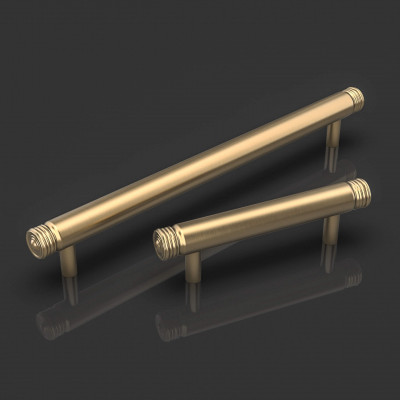 Cassius Satin Brass Cabinet Handle