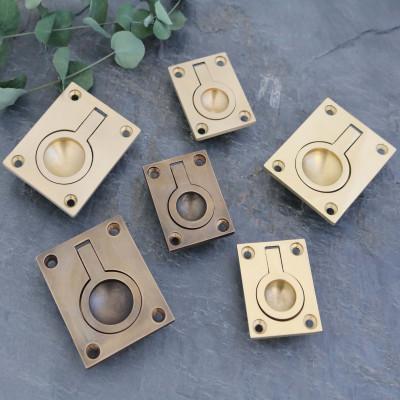 Wrenbury Brass Flush Rings