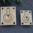 Wrenbury Satin Brass Flush Rings