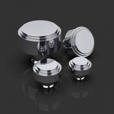 Ginglain Polished Chrome Cabinet Knobs