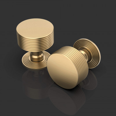 Simon Satin Brass Mortice Door Knob