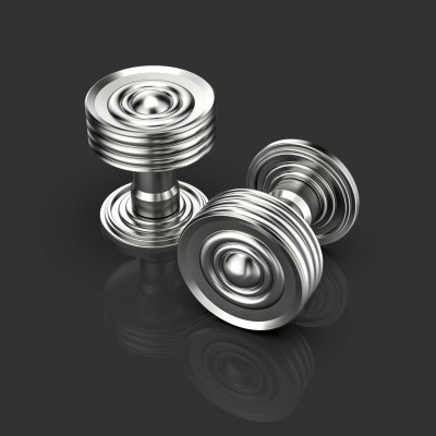 Cassius Satin Chrome Door Knobs