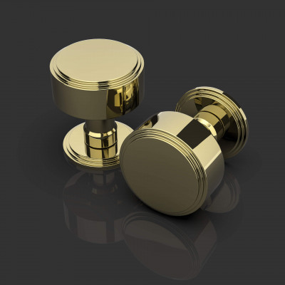Ginglain Polished Brass Door Knobs