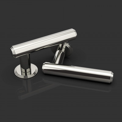 Ginglain Polished Nickel Lever Handle