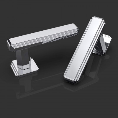 Amr Polished Chrome Lever Handles