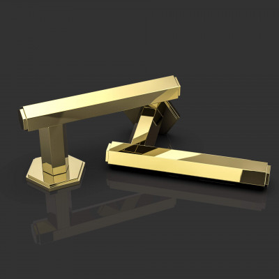 Harriette Polished Brass Lever Handle
