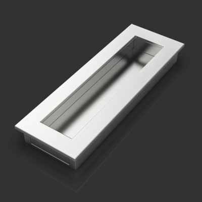 Benedict Satin Chrome Flush Pull