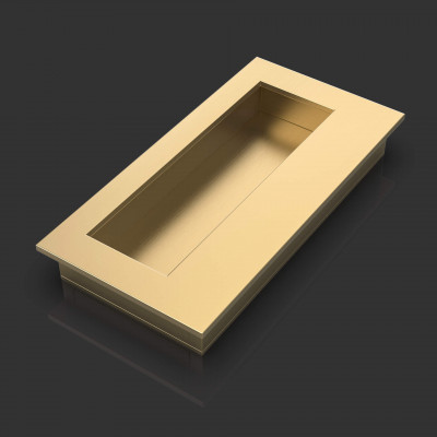 Louis Satin Brass Flush Pull