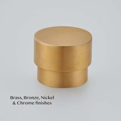 Round Cabinet knob in Smoked brass