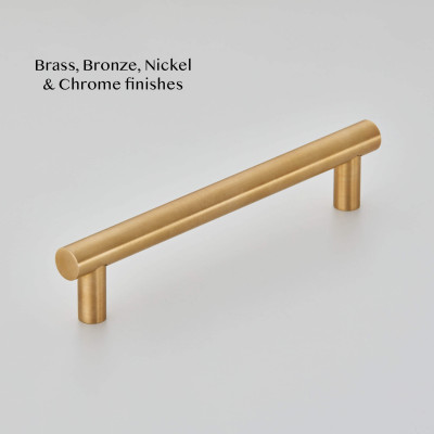 Round Cabinet Pull handle in Smoked brass
