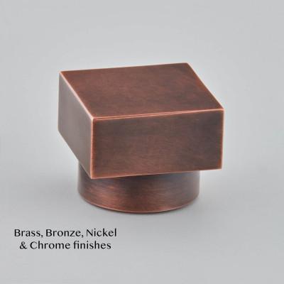 Square Cabinet Knob Autumn Bronze