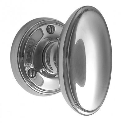 Large Chrome Oval Door Constable Door Knobs