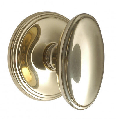 Constable Grand Oval Door Knobs Brass