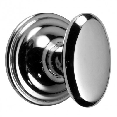 Chrome Constable Oval Cupboard Knob