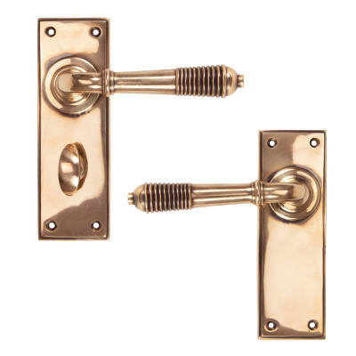 Polished Bronze Reeded Lever Handles