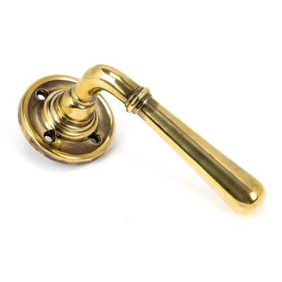 Newbury Aged Brass Lever Set