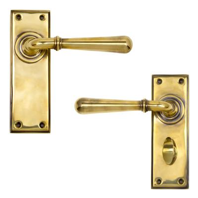 Newbury Lever Handles Aged Brass