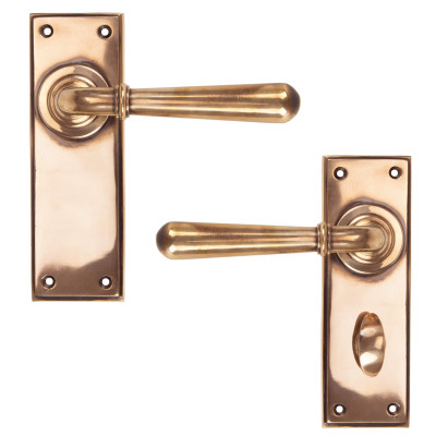 Newbury Lever Handles Polished Bronze