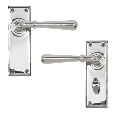 Newbury Lever Handles Polished Chrome