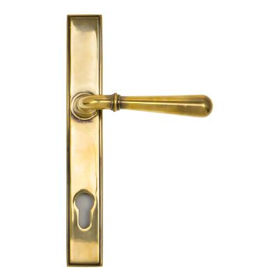 Newbury Aged Brass Espagnolette Set
