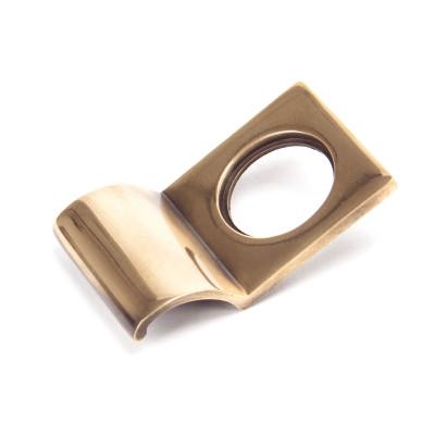 Period Polished Bronze Rim Cylinder Pull