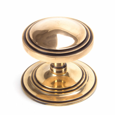 Polished Bronze Deco Centre Door Knob