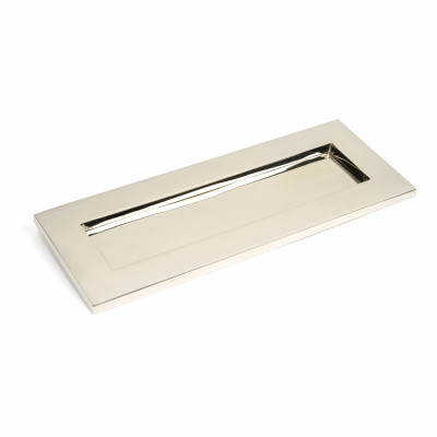 Period Small Letter Plate - Polished Nickel