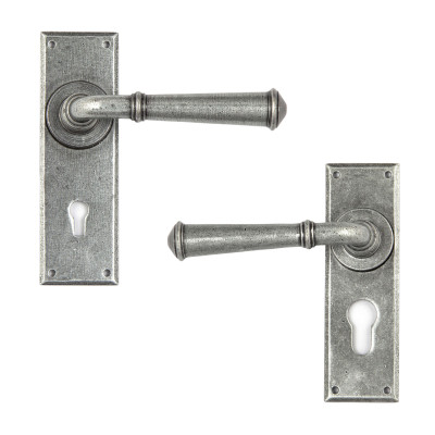 Pewter Regency Lever Lock Handles