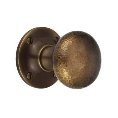 Hammered Cushion Mortice or Rim Knobs