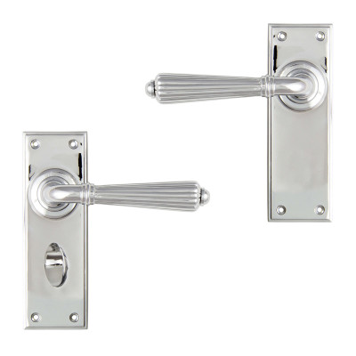 Polished Chrome Hinton Lever Handles
