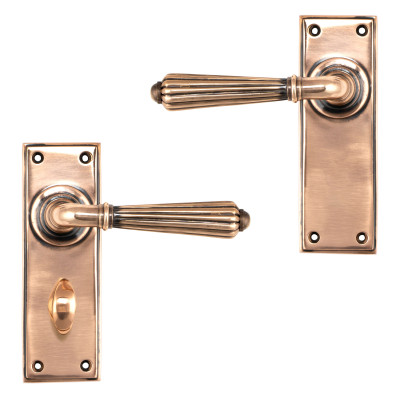 Polished Bronze Hinton Lever Handles
