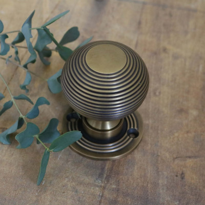 Old English Brass Beehive Door Knob