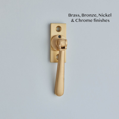 Straight Locking Window Espagnolette Satin Brass