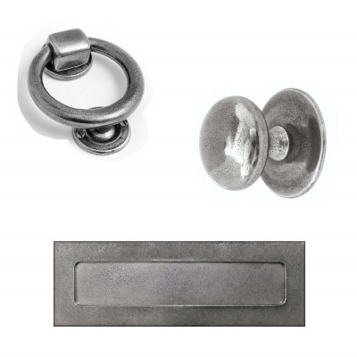 Real Pewter Front Door Set