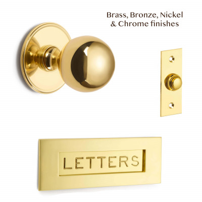 Engraved Letters front Door Set
