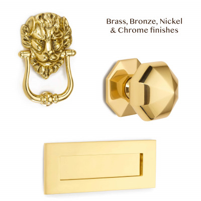 Lions Head Front Door Set