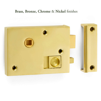 Plain bathroom rim latch