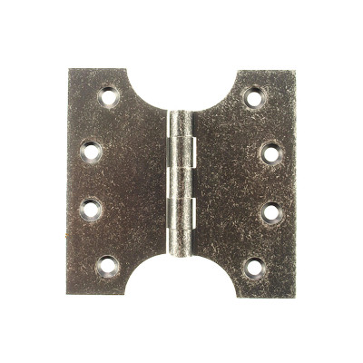 Solid Brass Parliament Hinges - Distressed Silver