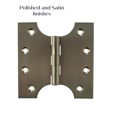 Solid Brass Parliament Hinges - Satin Nickel