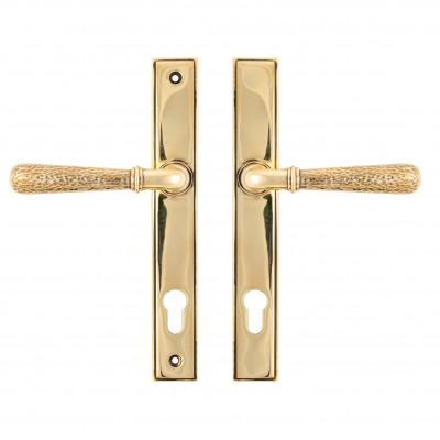 Hammered Newbury Espagnolette Aged Brass