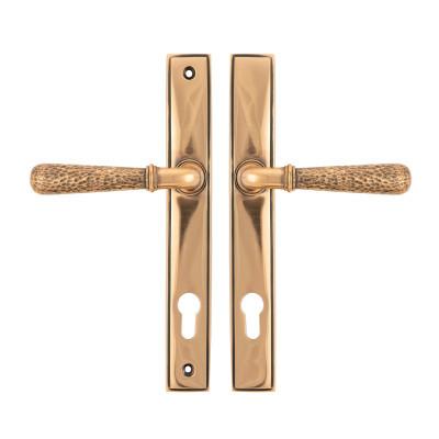 Hammered Newbury Espagnolette Lock Polished Bronze