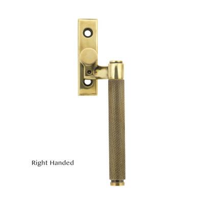 Brompton Espagnolette Aged Brass Right Hand