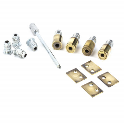 Secure Sash Stops Aged Brass