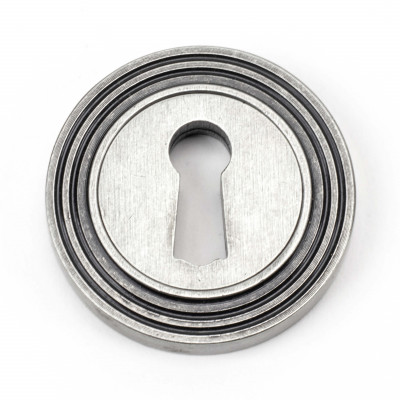Round Beehive Escutcheon in Pewter