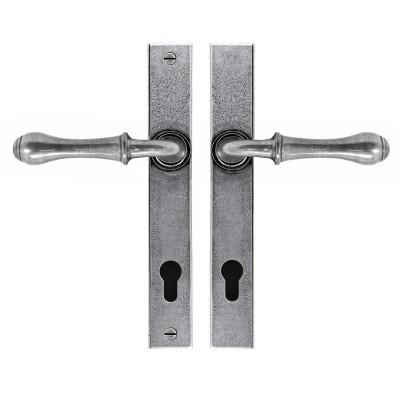 Derwent Espagnolette Lock Set Real Pewter