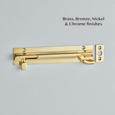 Necked Barrel Bolt Polished Brass Unlacquered