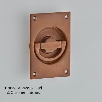 Flush Latch Handle Imitation Bronze Metal Antique
