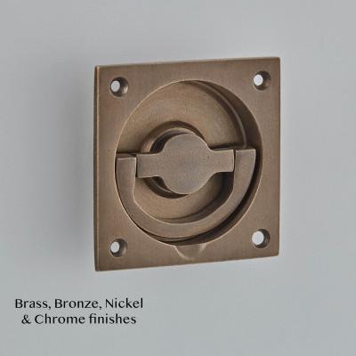 Flush Ring Handle in Tudor Bronze