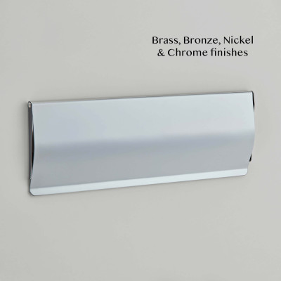 Plain Letter Tidy Chrome plate