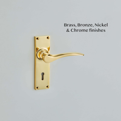 Codsall Lever Handles Polished Brass UNL